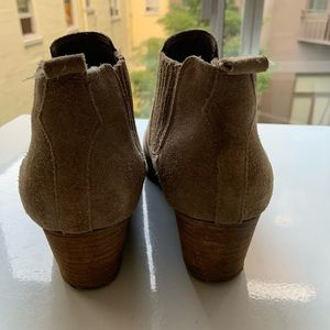 Crown Vintage Shoes - Tan Suede Booties